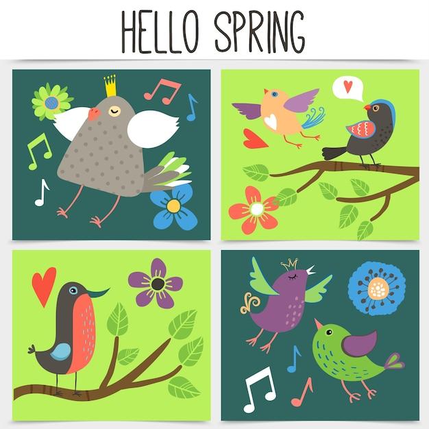 Płaska koncepcja placu wiosny