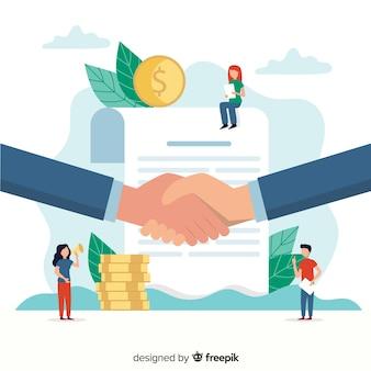 Płaska koncepcja transakcji biznesowych