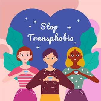 Płaska koncepcja zatrzymania transfobii