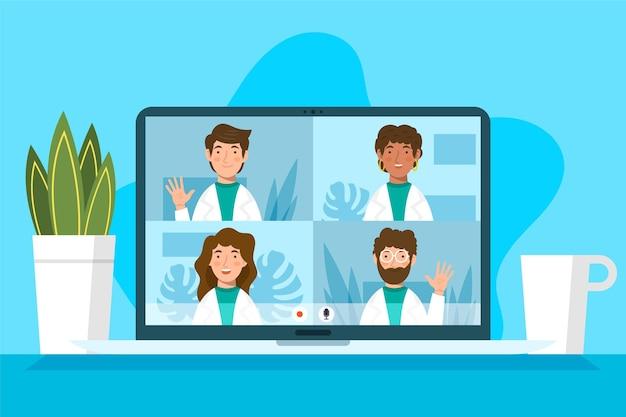 Płaska konferencja medyczna online