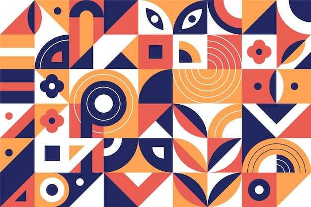 Płaska konstrukcja abstrakcyjne kształty geometryczne