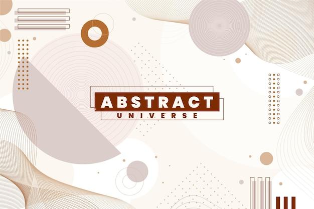 Płaska konstrukcja abstrakcyjnego tła