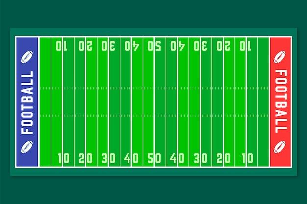 Płaska konstrukcja amerykańskiego boiska do piłki nożnej
