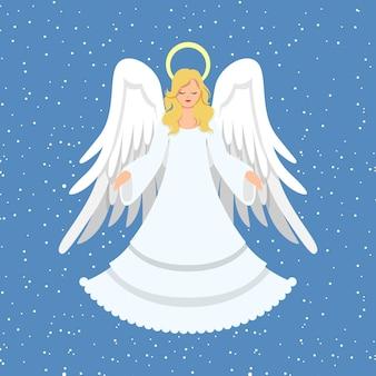 Płaska konstrukcja anioła bożego narodzenia