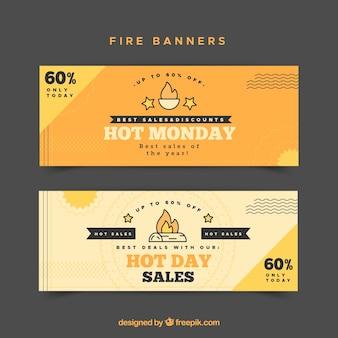 Płaska konstrukcja banner ognia