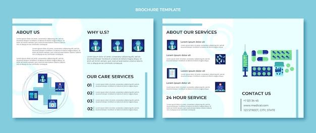Płaska konstrukcja broszury medycznej