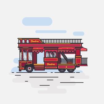 Płaska konstrukcja buss bandung raos
