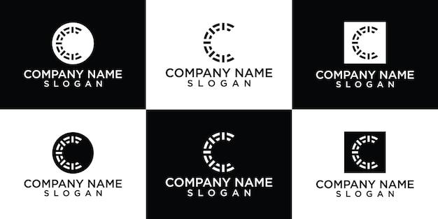 Płaska konstrukcja c szablon projektu logo