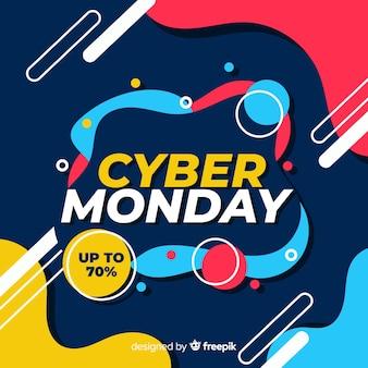 Płaska konstrukcja cyber poniedziałek sprzedaż transparent