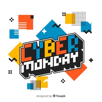 Płaska konstrukcja cyber poniedziałek tło