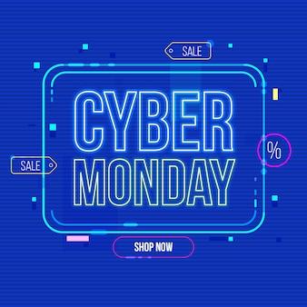 Płaska konstrukcja cyber poniedziałek zniżki banner