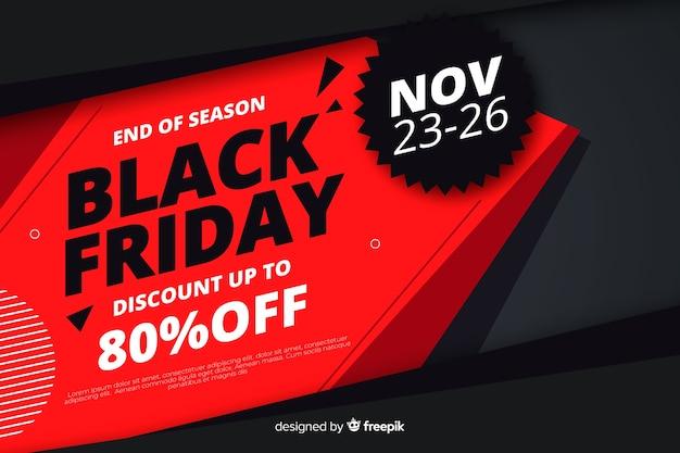 Płaska konstrukcja czarny piątek sprzedaż transparent