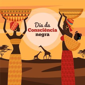 Płaska konstrukcja dia da consciencia negra