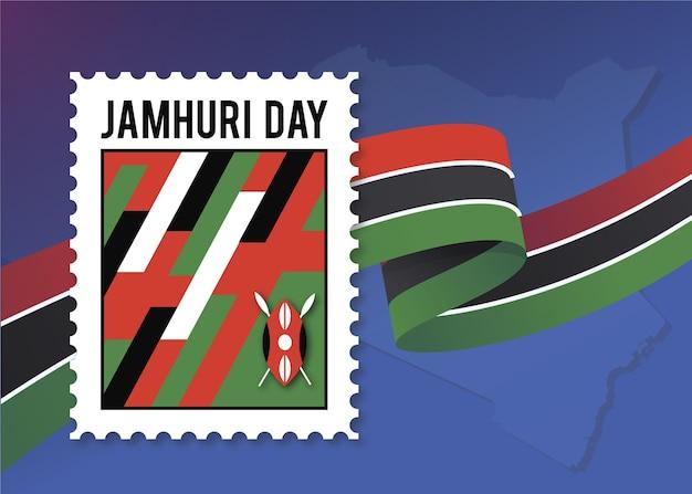 Płaska konstrukcja dnia jamhuri