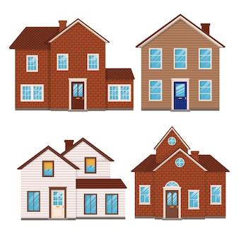 Płaska konstrukcja domu