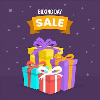Płaska konstrukcja drugi dzień świątecznej koncepcji sprzedaży