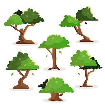 Płaska konstrukcja drzew