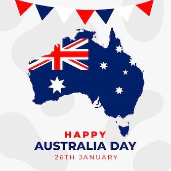 Płaska konstrukcja dzień australii