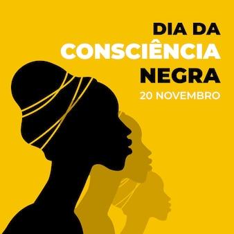 Płaska konstrukcja dzień consiencia negra