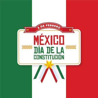 Płaska konstrukcja dzień konstytucji meksyku