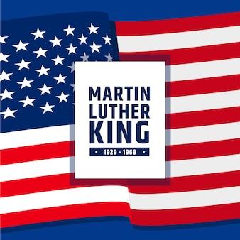 Płaska konstrukcja dzień martin luther king