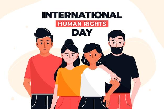 Płaska konstrukcja dzień praw człowieka