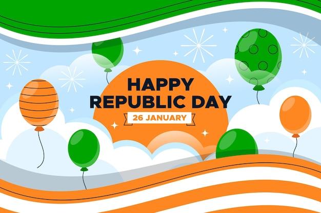 Płaska konstrukcja dzień republiki indyjskiej