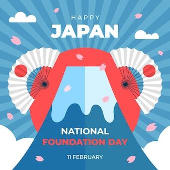 Płaska konstrukcja dzień założenia góry w japonii