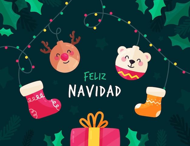 Płaska konstrukcja feliz navidad