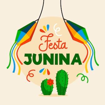 Płaska konstrukcja festa junina