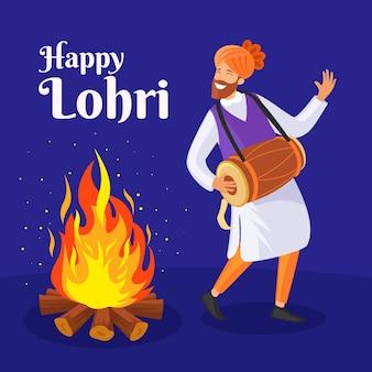 Płaska konstrukcja festiwalu lohri