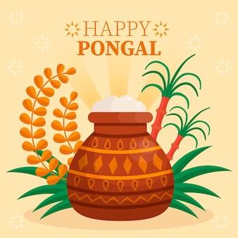 Płaska konstrukcja festiwalu pongalskiego