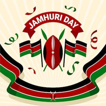 Płaska konstrukcja flagi wydarzenia dzień jamhuri