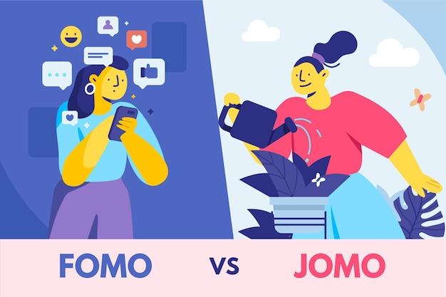 Płaska konstrukcja fomo vs jomo