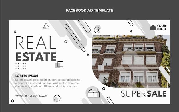Płaska konstrukcja geometryczna nieruchomości na facebooku