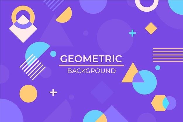 Płaska Konstrukcja Geometryczne Tło Darmowych Wektorów
