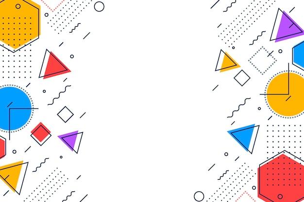 Płaska konstrukcja geometryczne tło