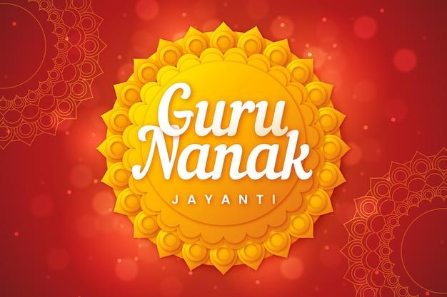 Płaska konstrukcja guru nanak słońce