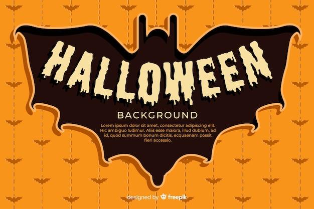 Płaska konstrukcja halloween tło