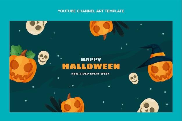 Płaska konstrukcja halloweenowa sztuka kanału youtube