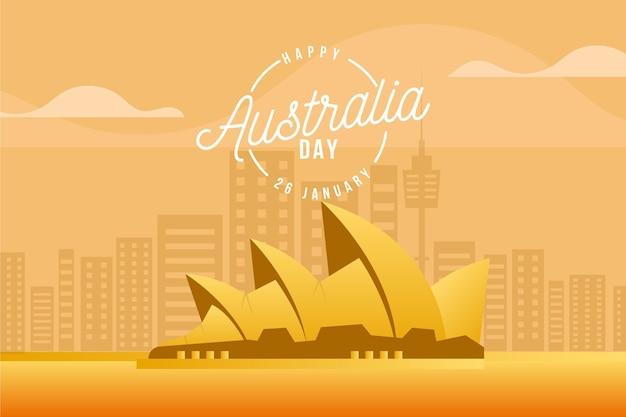 Płaska konstrukcja ilustracja dzień australii