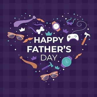 Płaska konstrukcja ilustracja dzień ojca motyw