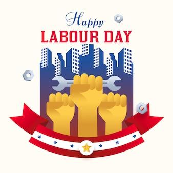 Płaska konstrukcja ilustracja dzień pracy międzynarodowej