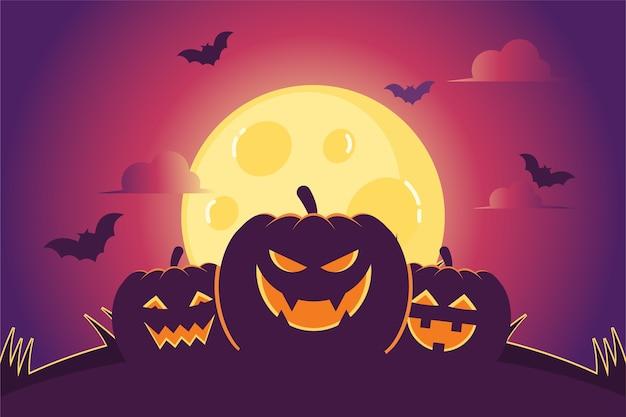 Płaska konstrukcja ilustracja halloween