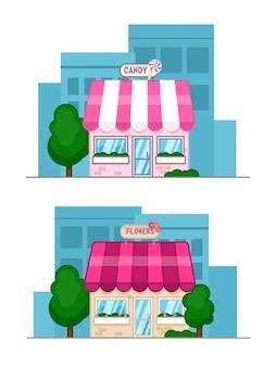 Płaska konstrukcja ilustracji wektorowych koncepcji małego biznesu
