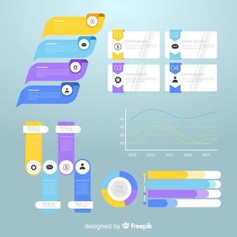 Płaska konstrukcja infographic element kolekcji