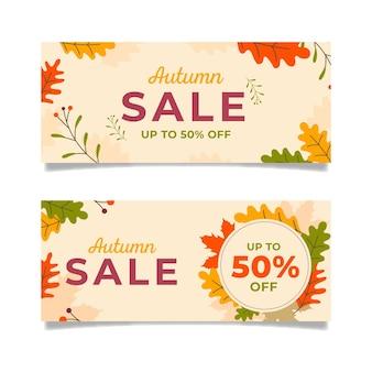 Płaska konstrukcja jesień sprzedaż banerów zestaw
