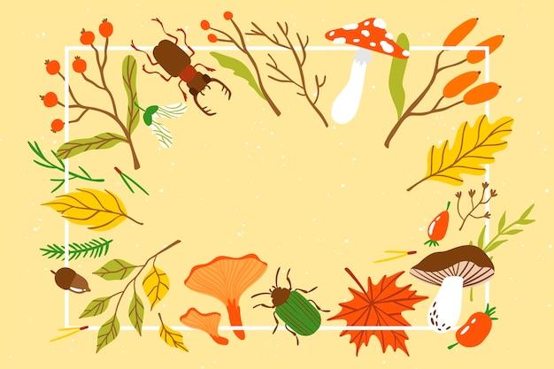 Płaska konstrukcja jesień tło