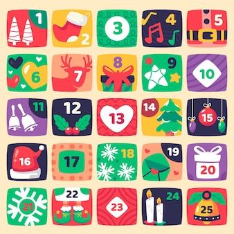 Płaska konstrukcja kalendarza adwentowego