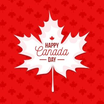 Płaska konstrukcja kanada dzień z tłem liść klonu